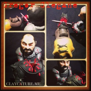 Gregor Clegane from Game of Thrones in polymer clay