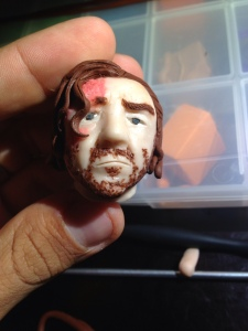 Sandor Clegane front face in clay