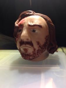 Sandor Clegane head in polymer clay