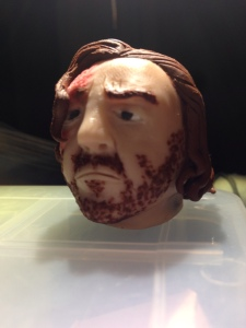 Sandor Clegane head in polymer clay