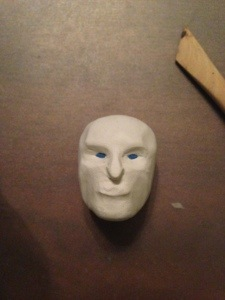 white walker face in polymer clay front