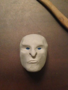 how to make white walker face in polymer clay