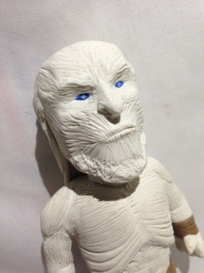 white walker face in polymer clay