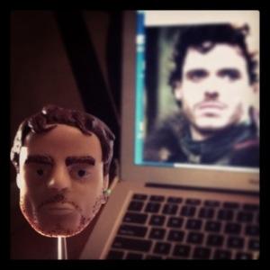 Rob Stark Head in Clay