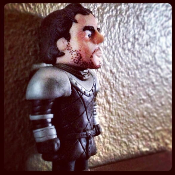Robb Stark Miniature in Polymer Clay