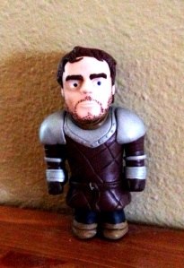 Robb Stark Front Miniature in Clay