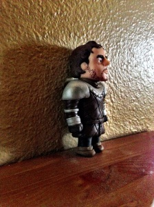 Robb Stark Miniature in Polymer Clay side view